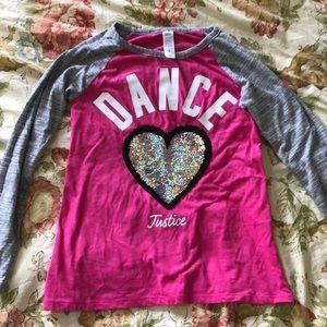 Justice Dance shirt Size 8